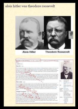 bzw ganz einfach ein erfundener lebenslauf ist er stellt nmlich die fotos von hitlers eltern alois und klara hitler neben die von alice hathaway und - Lebenslauf Hitler